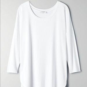 Babaton Norris White Shirt Large L Aritzia